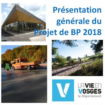 Présentation générale du Projet de BP 2018